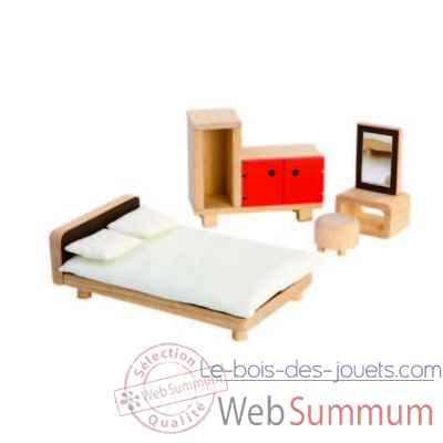 Chambre parentale Plan Toys dans Maisons de Poupées en bois sur Le bois des jouets