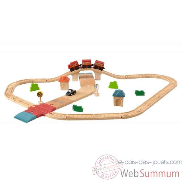 Circuit rails + routes Plan Toys -6608