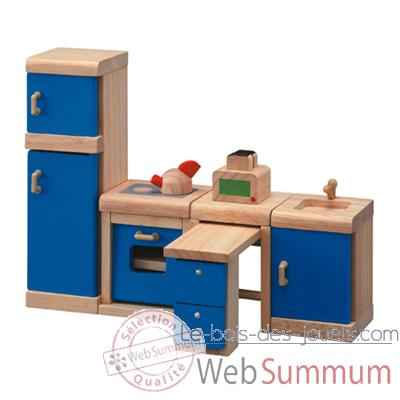 meuble cuisine en bois plan toys 7310 de jouets en bois nature plan toys. Black Bedroom Furniture Sets. Home Design Ideas