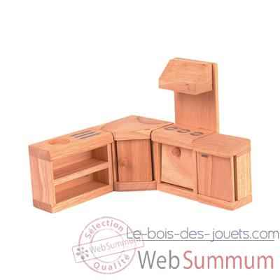 meuble cuisine en bois plan toys 9013 photos le bois des jouets de plan toys. Black Bedroom Furniture Sets. Home Design Ideas