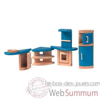 Video Cuisine decor moderne en bois - Plan Toys 7440