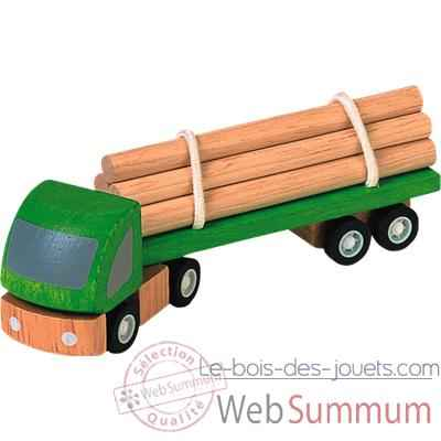 Video Camion transporteur en bois - Plan Toys 6005