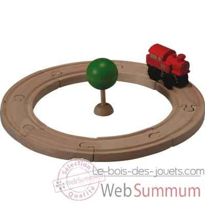 Video Circuit rail route starter en bois - Plan Toys 6205