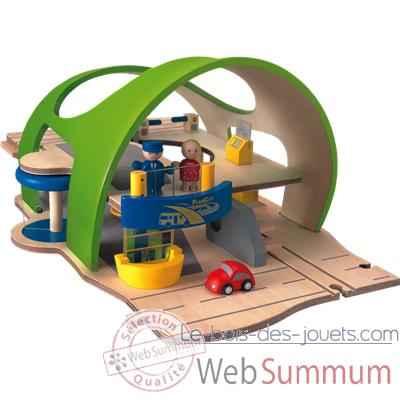 Tapis de jeu rond Plan Toys 6225 dans Circuit Train Ville ...