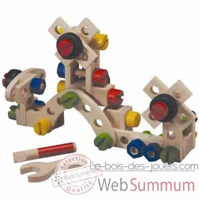 Video Jeu de construction 60 pieces en bois - Plan Toys 5534
