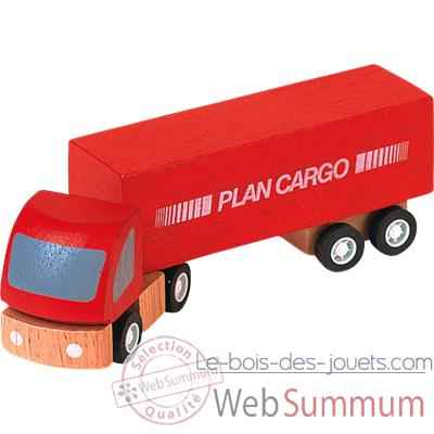 Video Semi remorque en bois - Plan Toys 6006