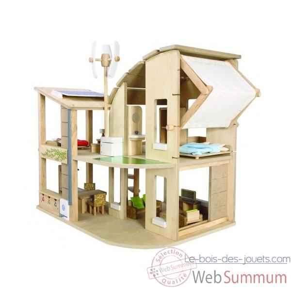 Le ranch jouet en bois plantoys 7158 de plan toys de for Maison de jardin en bois jouet