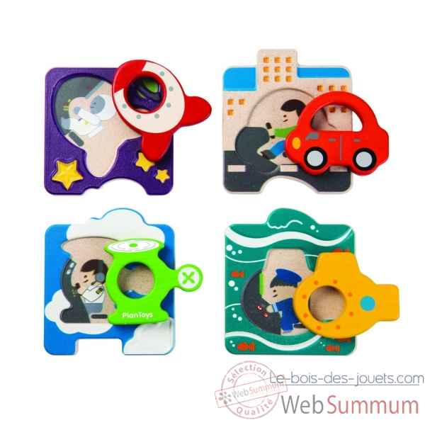 Puzzle vehicules Plan Toys -5675