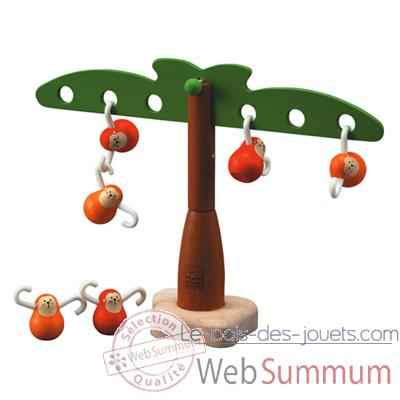 Video Singes equilibrant en bois - Plan Toys 5349