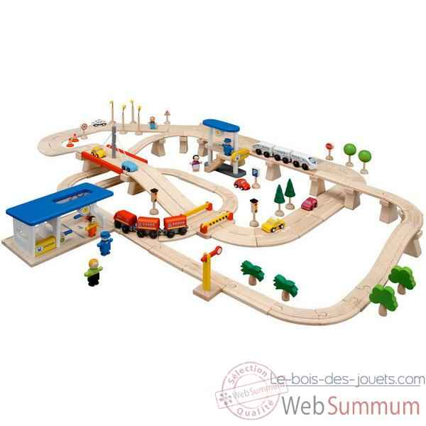 Circuit Routes et Rails 110 PlanToys -6091