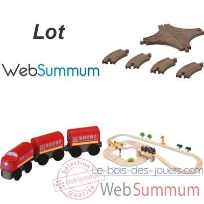 Bel ensemble train en bois Plan Toys -LWS-55
