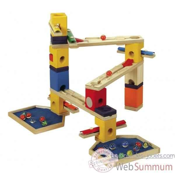 Circuit de billes et jeu bille bois des jouets for Construction xylophone bois