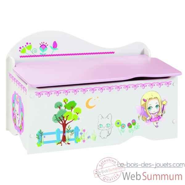 Coffre jouets milishoo room studio dans coffre a jouet - Coffre a jouet fille pas cher ...