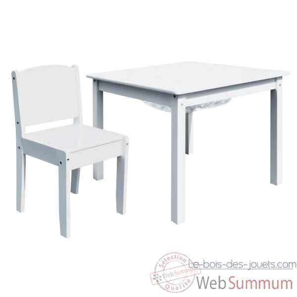 Ensemble Table De Jeu Enfant Avec Rangement Et Deux Chaises Enfant
