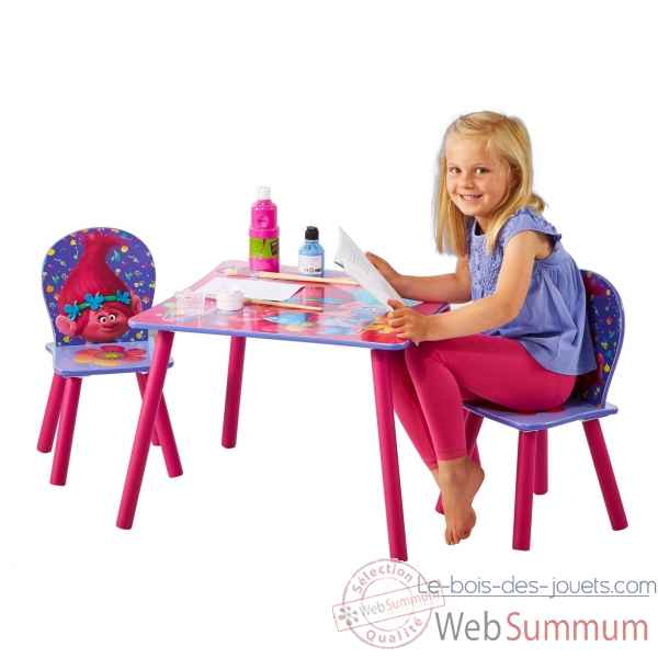 Ensemble table et 2 chaises trolls Room studio -866275