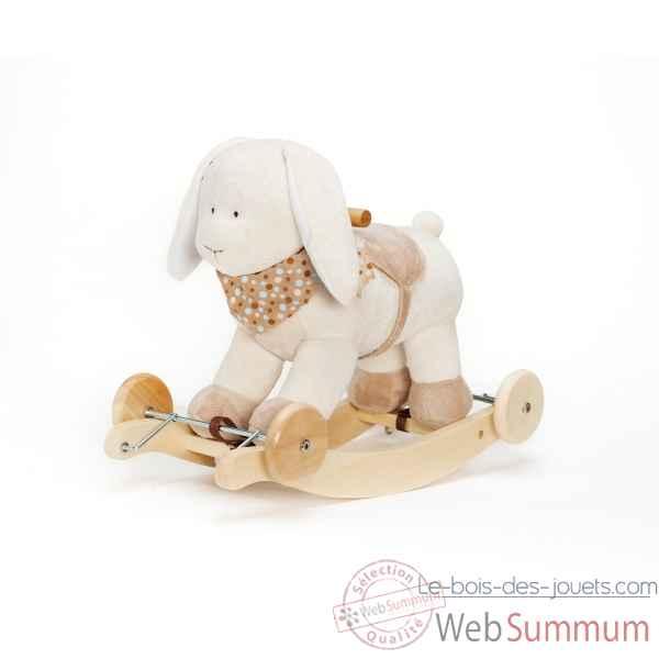 agneau bascule musical histoire d 39 ours avec siege b b 30cm ho1276 jouets en bois. Black Bedroom Furniture Sets. Home Design Ideas