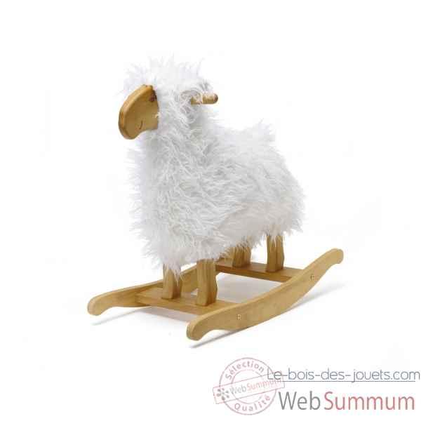Bascule trotteur b b et enfant le bois des jouets - Cheval a bascule en bois blanc ...