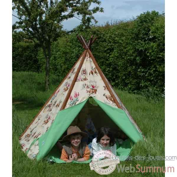 tipi tente pour enfant cow boy the old basket 51001 dans. Black Bedroom Furniture Sets. Home Design Ideas