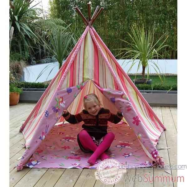 tipi tente pour enfant maison des elfes the old basket 51004a dans tente et tipi. Black Bedroom Furniture Sets. Home Design Ideas