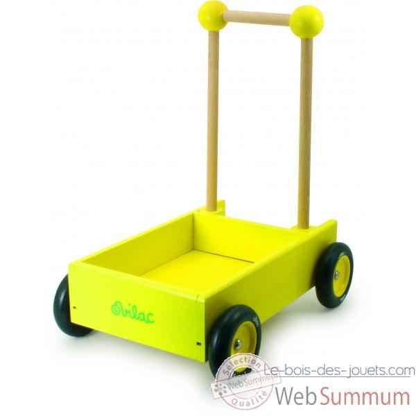 chariot de marche jaune jouet vilac dans tous les jouets sur le bois des jouets. Black Bedroom Furniture Sets. Home Design Ideas