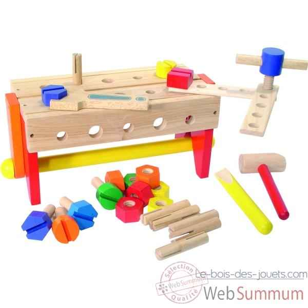 etabli bo te outils r versible jouet vilac 2142 dans tous les jouets. Black Bedroom Furniture Sets. Home Design Ideas