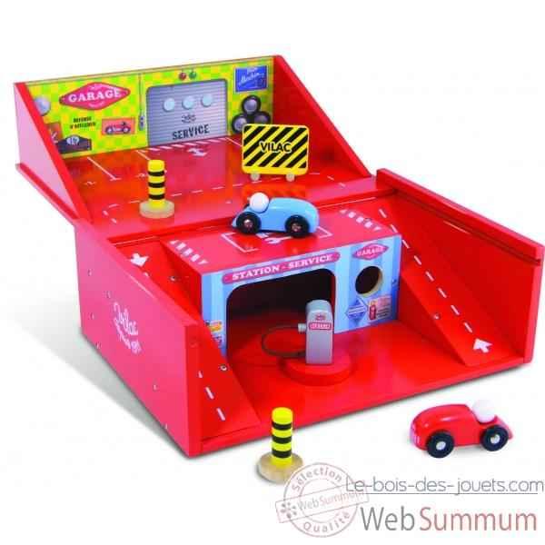 garage valise jouet vilac 2328 dans jouet voiture sur le bois des jouets. Black Bedroom Furniture Sets. Home Design Ideas