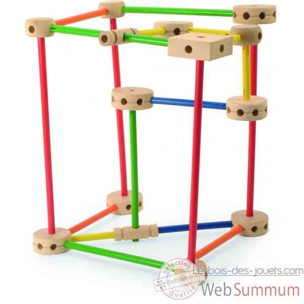 Grand jeu de construction jouet vilac dans tous les for Jeu de construction en bois 4 ans