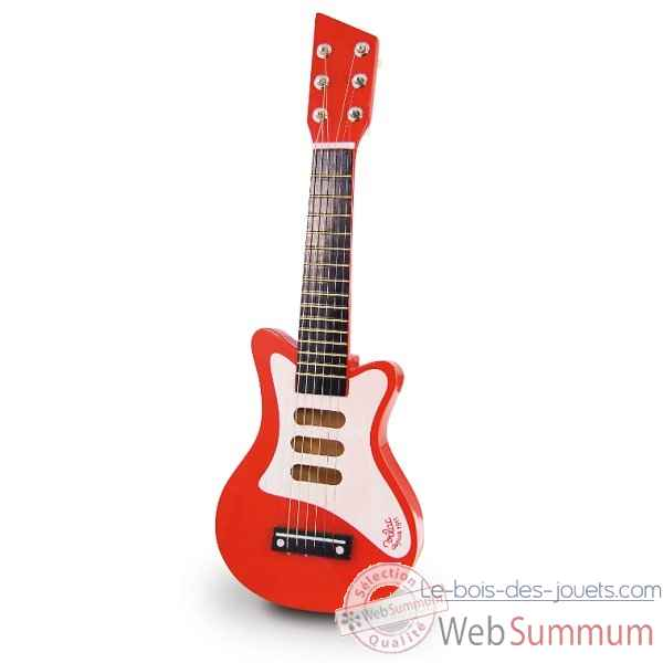Guitare rock rouge vilac 8327