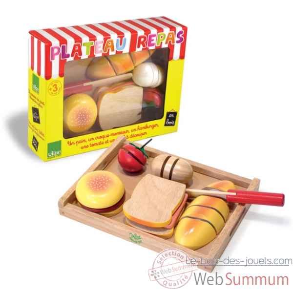 plateau repas d couper jouet vilac 6159 dans jouet vilac sur le bois des jouets. Black Bedroom Furniture Sets. Home Design Ideas