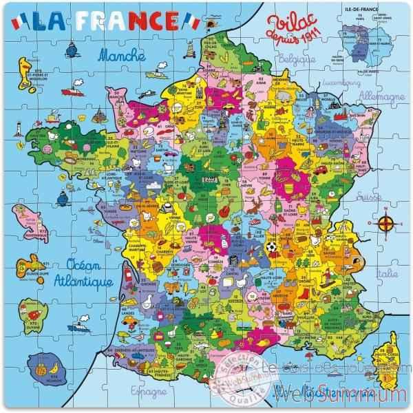 Puzzle 144 pcs carte de france en valise vilac 2603 dans - Pinolino france ...