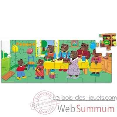 puzzle anniversaire petit ours brun vilac dans jeux d. Black Bedroom Furniture Sets. Home Design Ideas