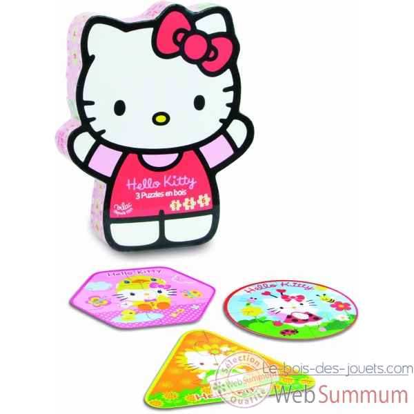 Puzzle hello kitty (3,4,6 pces) vilac -4800