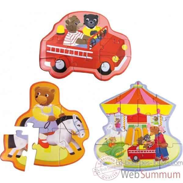 3 puzzles volutifs petit ours brun vilac dans jeux d. Black Bedroom Furniture Sets. Home Design Ideas