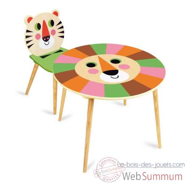 Table lion + chaise tigre vilac -7746