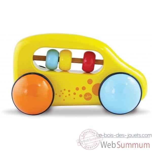 voiture boulier jaune vilac 2304y dans jeux d 39 veil sur le bois des jouets. Black Bedroom Furniture Sets. Home Design Ideas